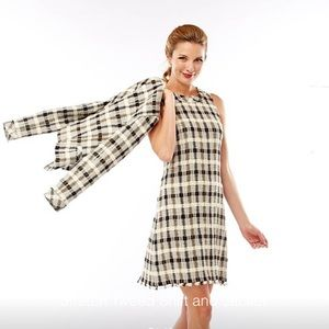 NWT Sara Campbell Tweed Raw Edged Dress